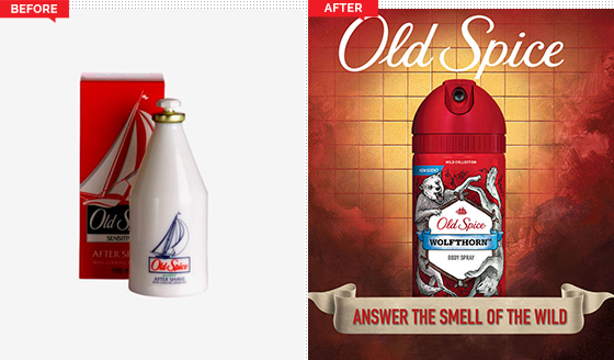 Old Spice Before and After